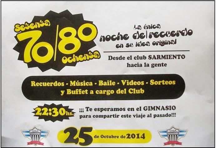 ESPACIO PUBLICITARIO: 70-80 La única y Original Noche del Recuerdo