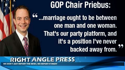 Rience Priebus Marriage Between Man and Woman