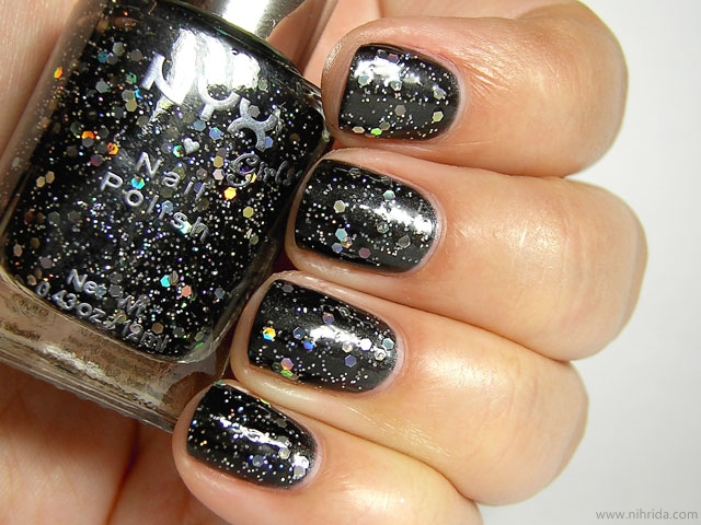 NYX Girls Nail Polish - Frizzy Spots over Abyss