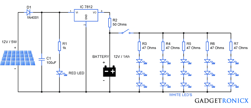solar-powered-LED-lighting-light-circuit-diagram-schematic