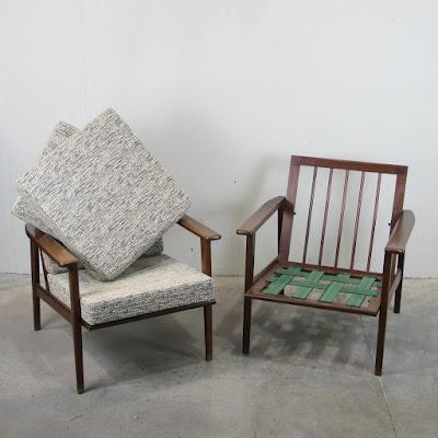 sillones daneses con tapicería renovada