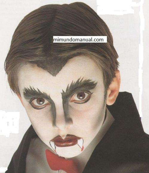 Como hacer maquillaje de vampiro mimundomanual - Como pintar la cara de nina de bruja ...