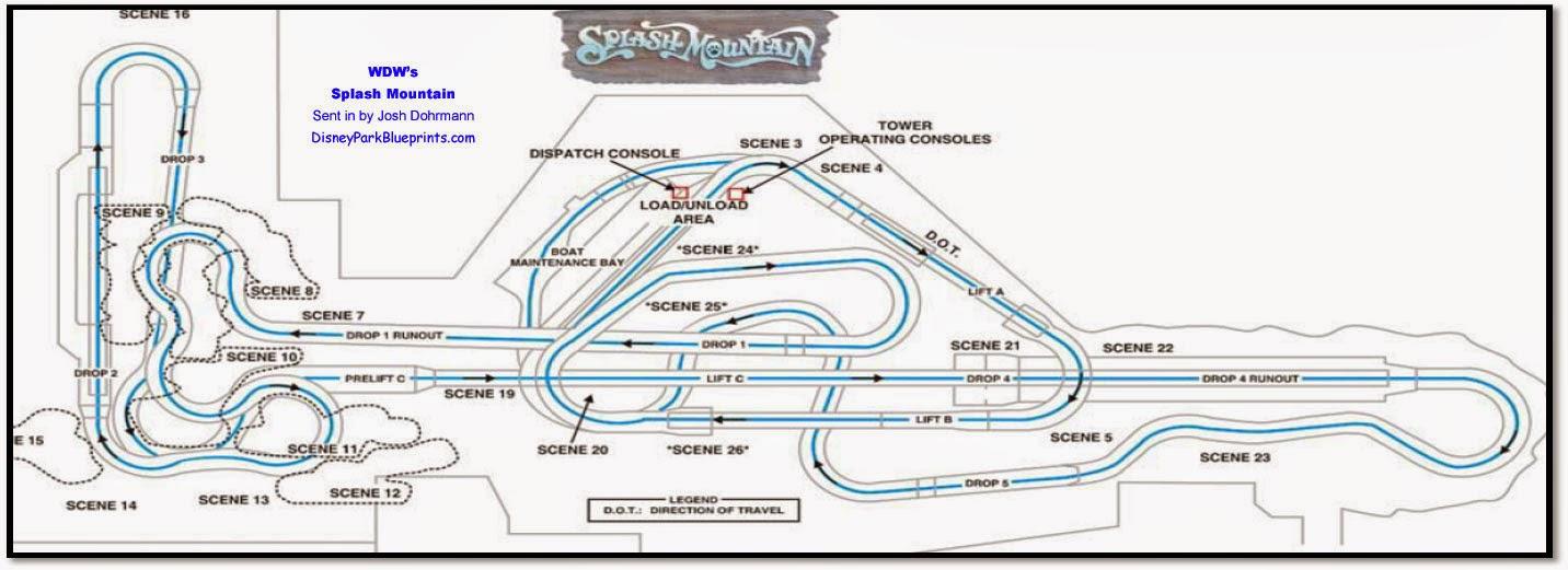 Disney park blueprints splash mountain magic kingdom for Florida blueprint