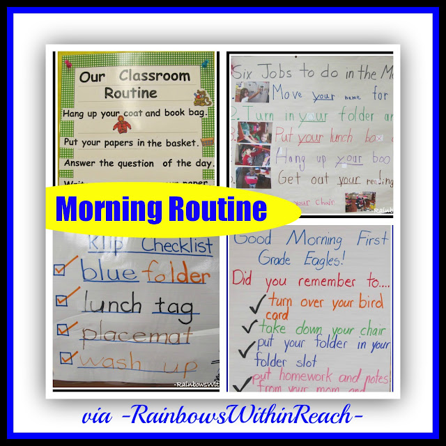 photo of: Starting the Day Routines at School (RoundUP via RainbowsWithinReach)