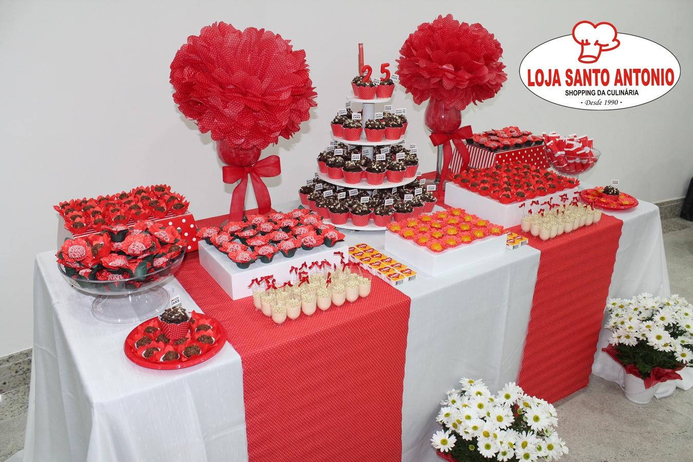 Amado Loja Santo Antonio: Mesa de Festa Decorada c/ produtos da Loja  RA93