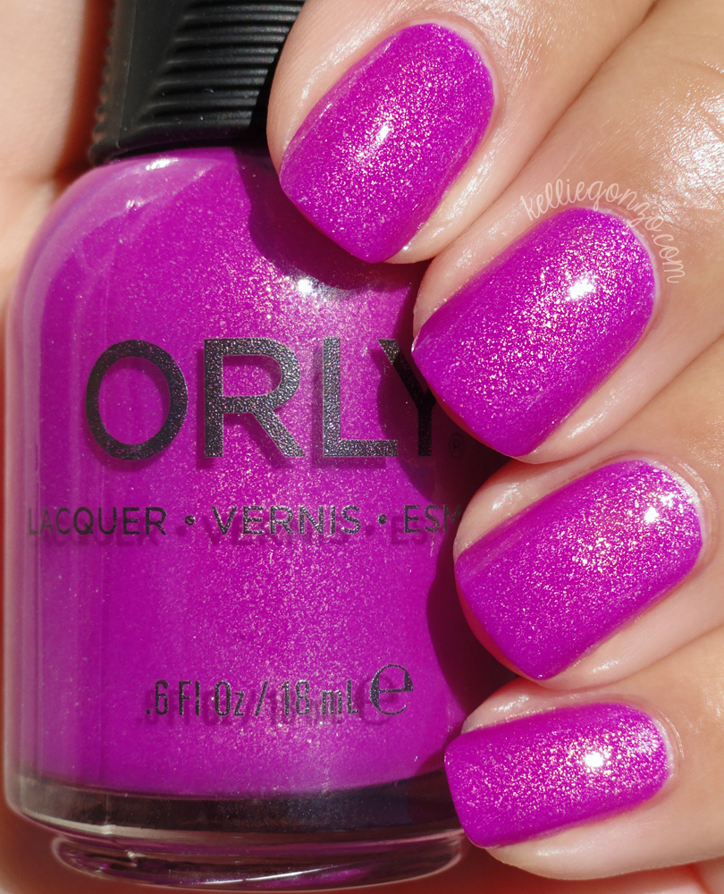 Orly Hot Tropics purple baked collection