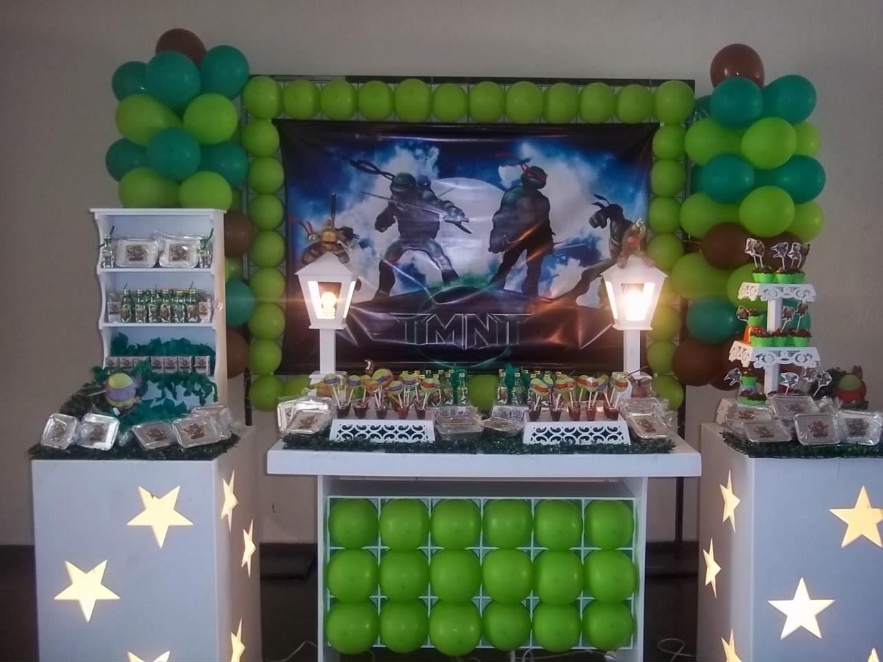 festa jardim da clarilu:abá Festas: Decoração Tartarugas Ninja