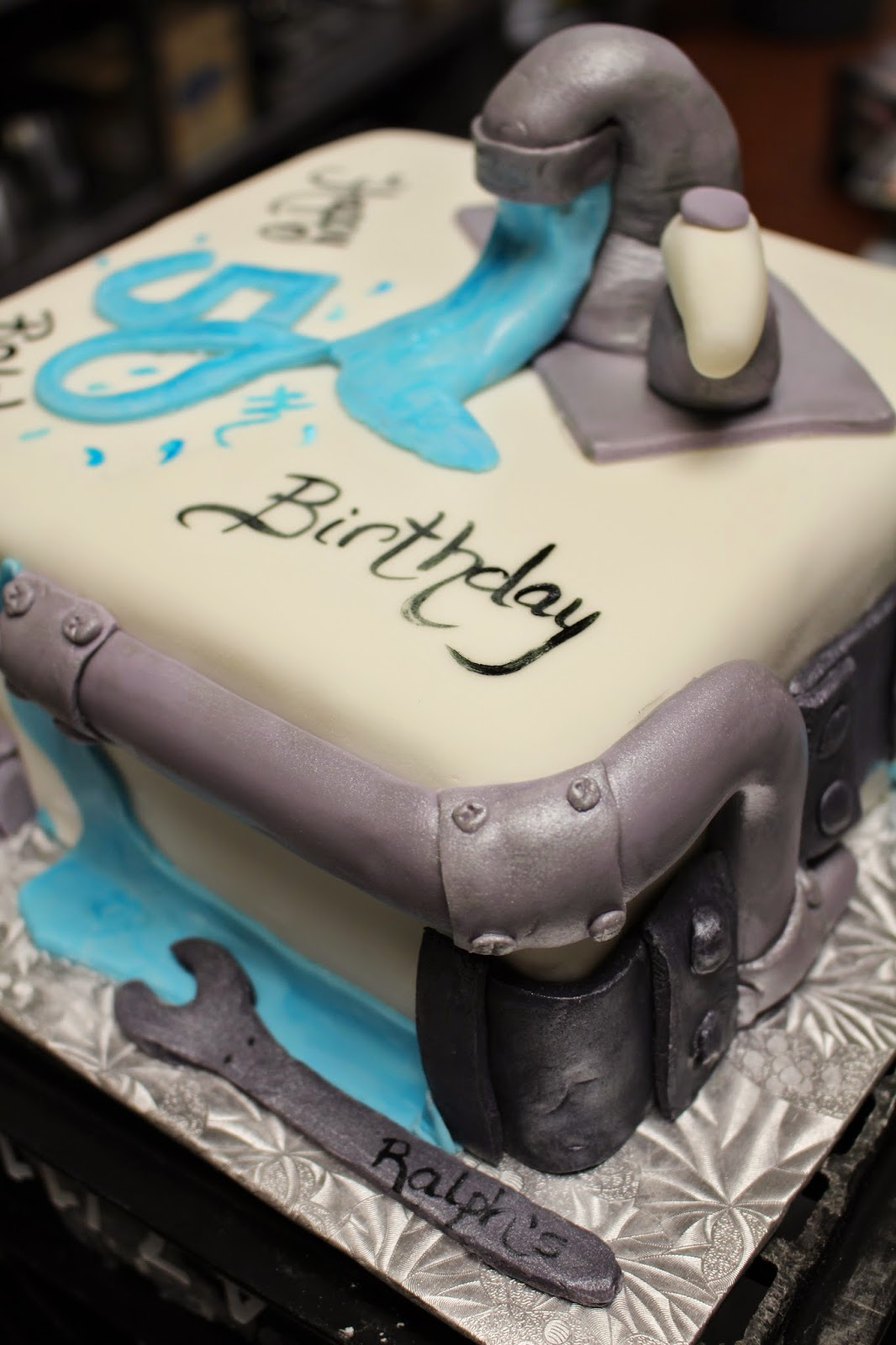 Plumber Birthday Cake Ideas