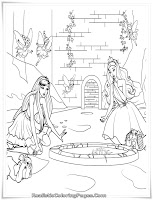 Barbie And The Diamond Castle Kids Coloring Sheet