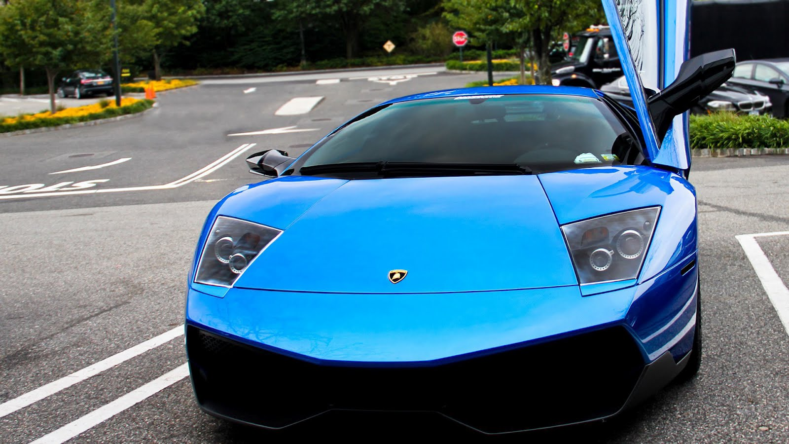 Blue Lamborghini Murcielago Lp640 Hd Car Wallpaper Car Wallpaper Hd