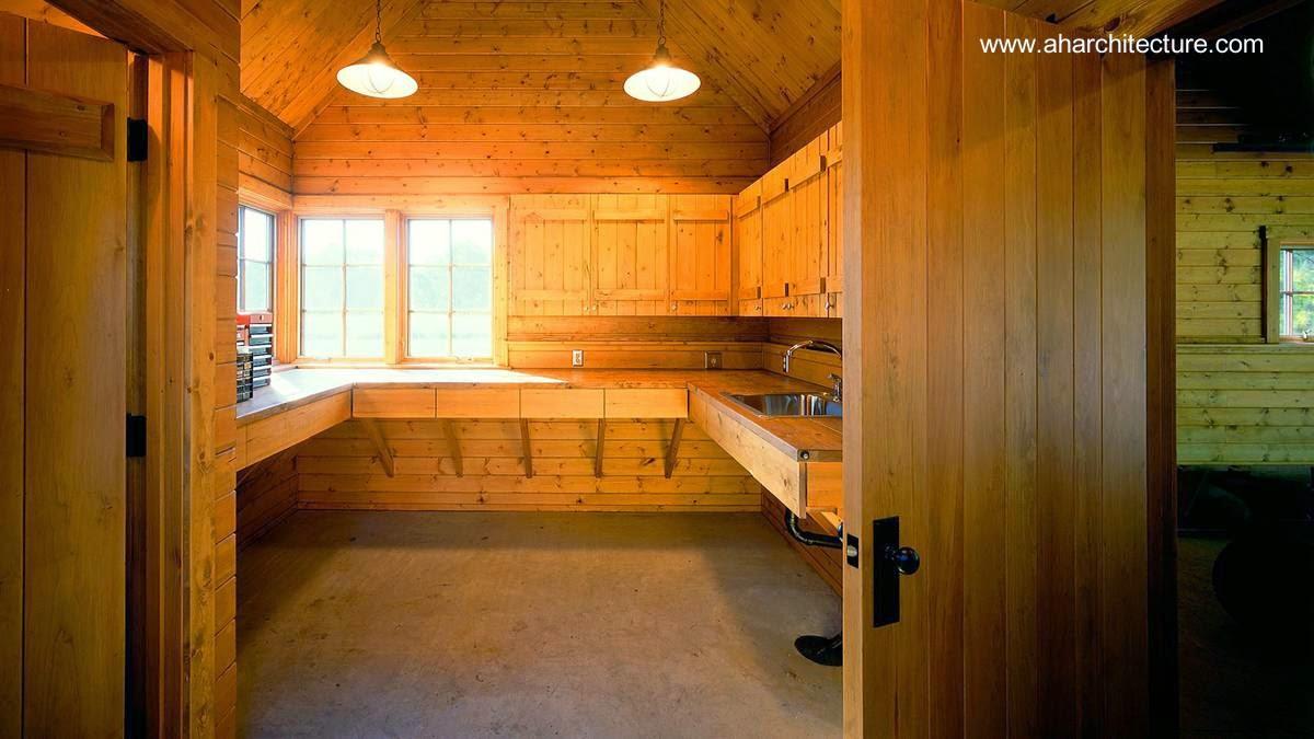 Cocina de la residencia hecha por completo de madera