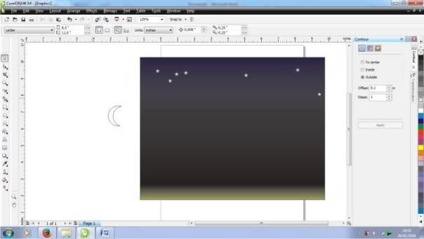 Cara Membuat Pemandangan Malam Hari di Corel Draw