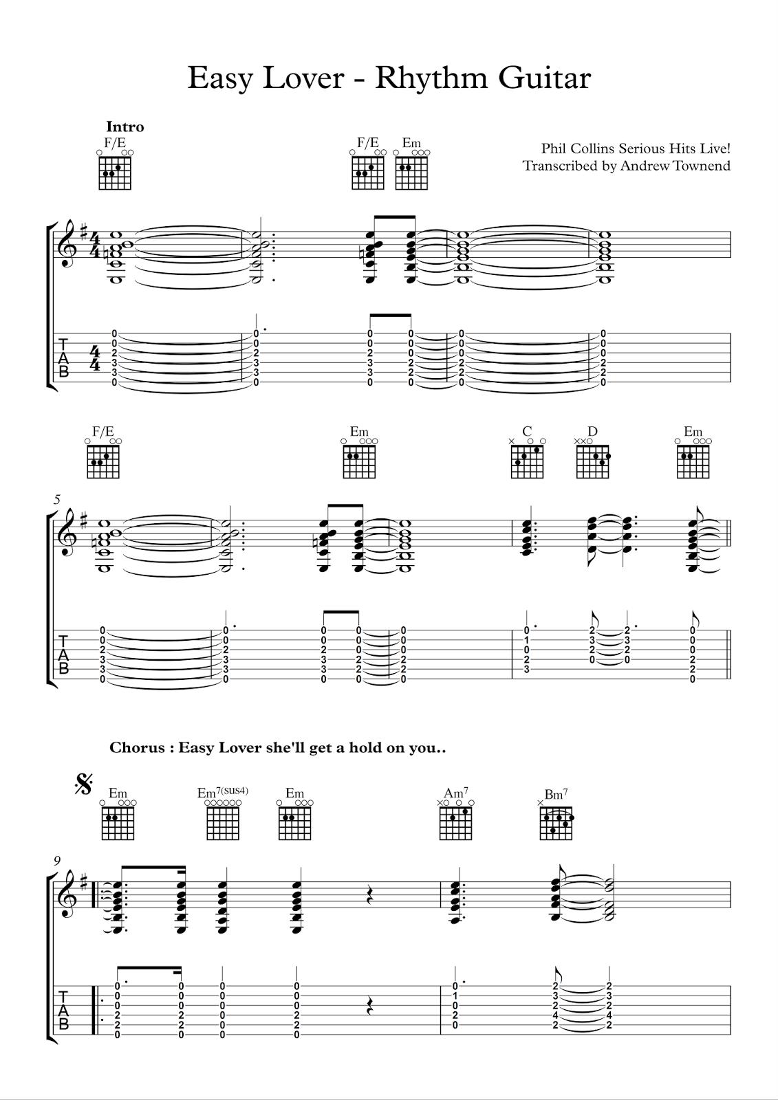 Easy Lover Rhythm Guitar
