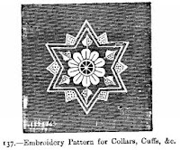 Embroidery for collars and cuffs