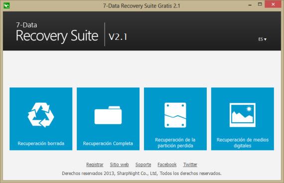 Recupera datos perdidos con 7-Data Recovery Suite