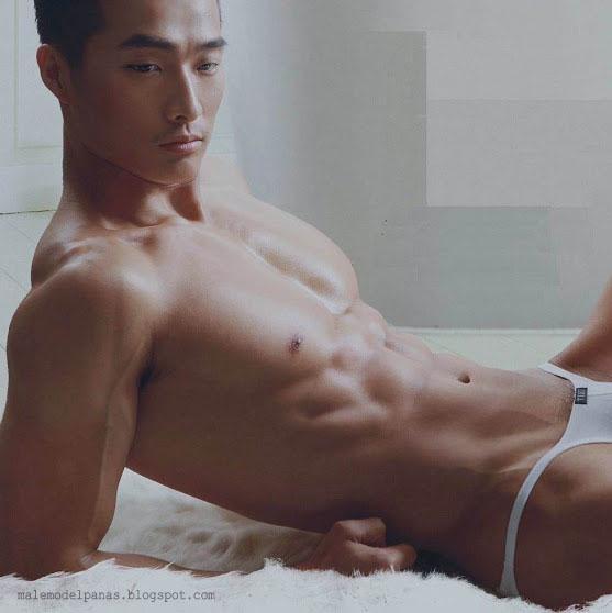 sexy muscle asian men on underwear