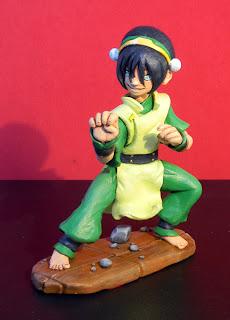 orme magiche toph last airbender manga action figure statuetta personalizzata cartoni