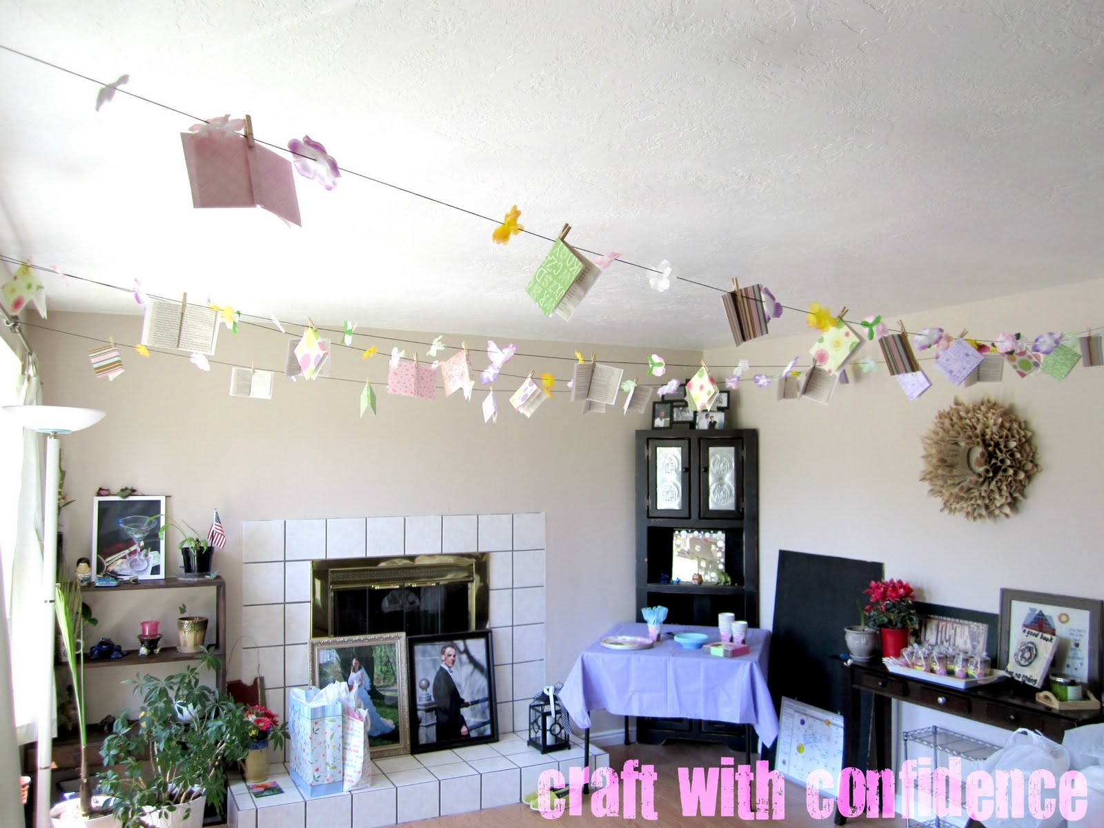 Craft with confidence the library baby shower for Baby shower decoration ideas martha stewart