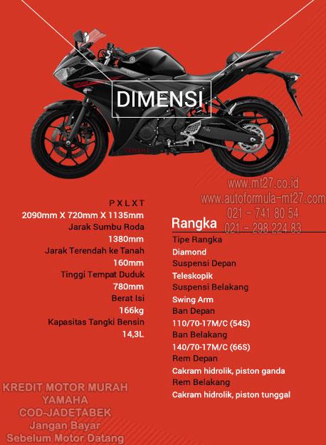 Yamaha R25 Spesifikasi Dimensi