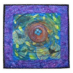 """Nested"" Art Quilt for 2 Friends Gallery"