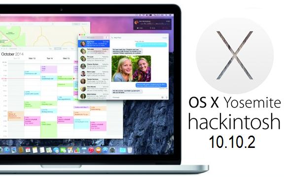 Hackintosh OS X Yosemite 10.10.2 (14C109) for Windows PCs