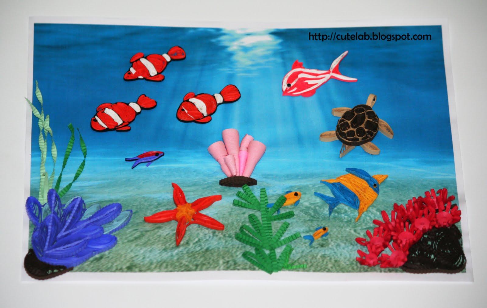 Подводный мир - поделка своими руками из бумаги 8