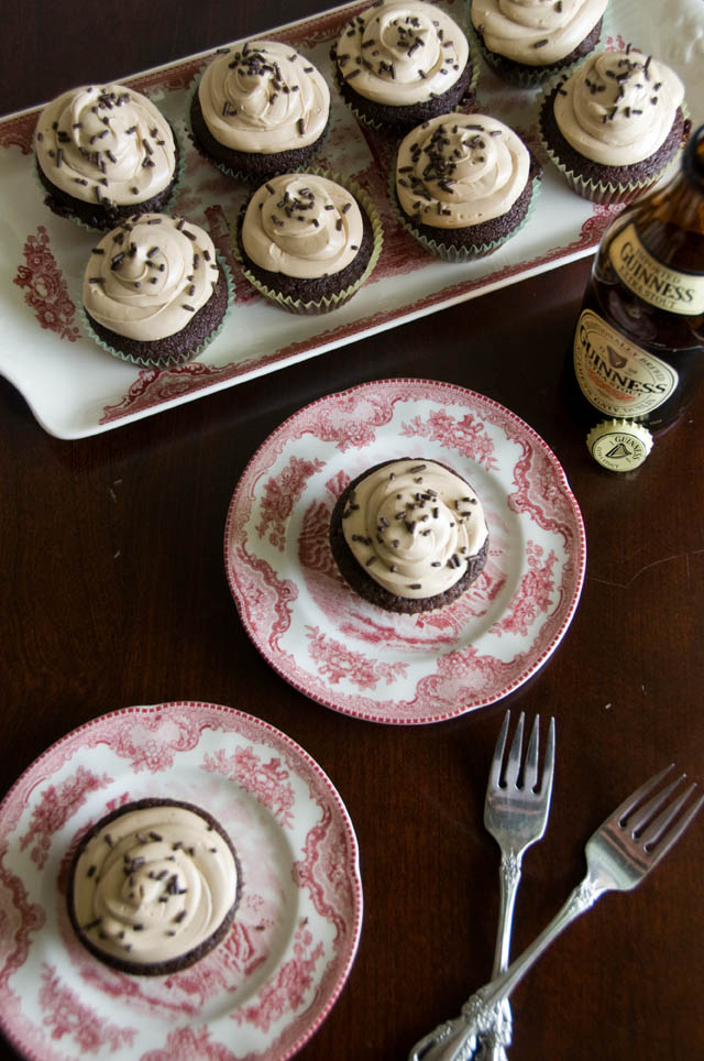... food, photography, life: Chocolate Stout Cupcakes with Guinness Icing