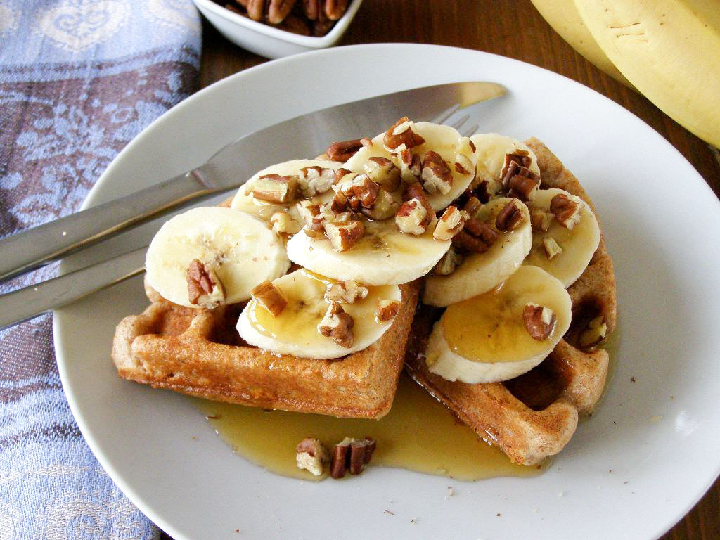 Spiced Yogurt Waffles With Toasted-Pecan Maple Syrup Recipes ...