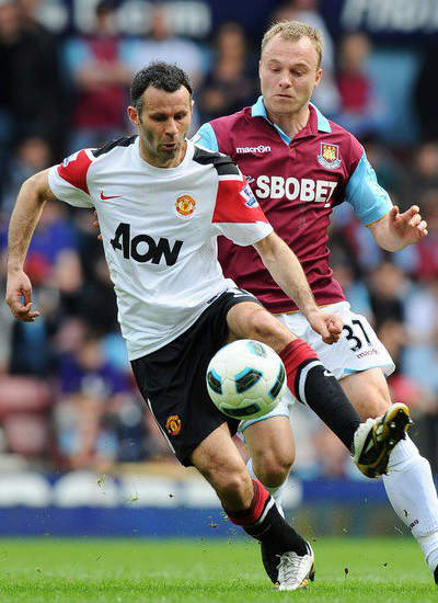 Ryan Giggs Man Utd Veteran Winger vs west ham united
