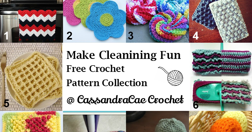 Free Crochet Pattern Round Up --- Stuff For Cleaning