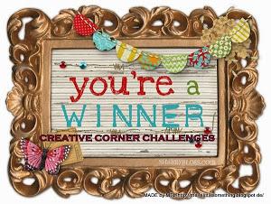 Stolt og glad vinner hos Creative Corner