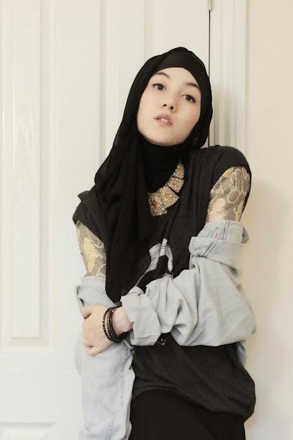 Style hijab untuk cewek tomboy ngeblog bareng Hijab fashion style hana tajima