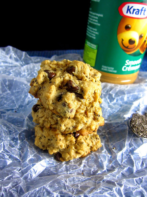 Chia Seed Peanut Butter Oatmeal Cookies