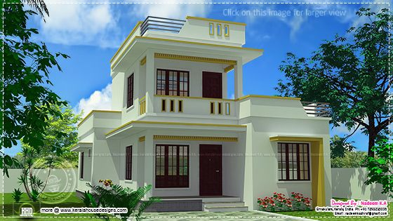 ... roof home design in 1305 sq. feet - Kerala home design and floor plans