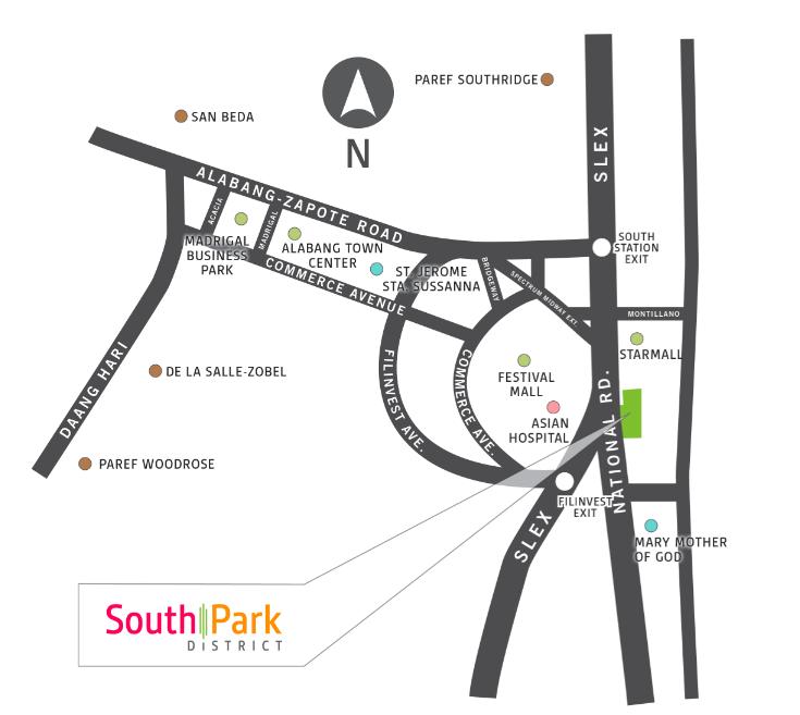 Avida Towers South Park Location Map
