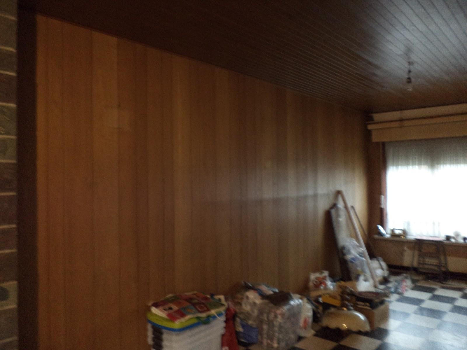 Verbouwing in Burst: Verwijderen plafond in woonkamer