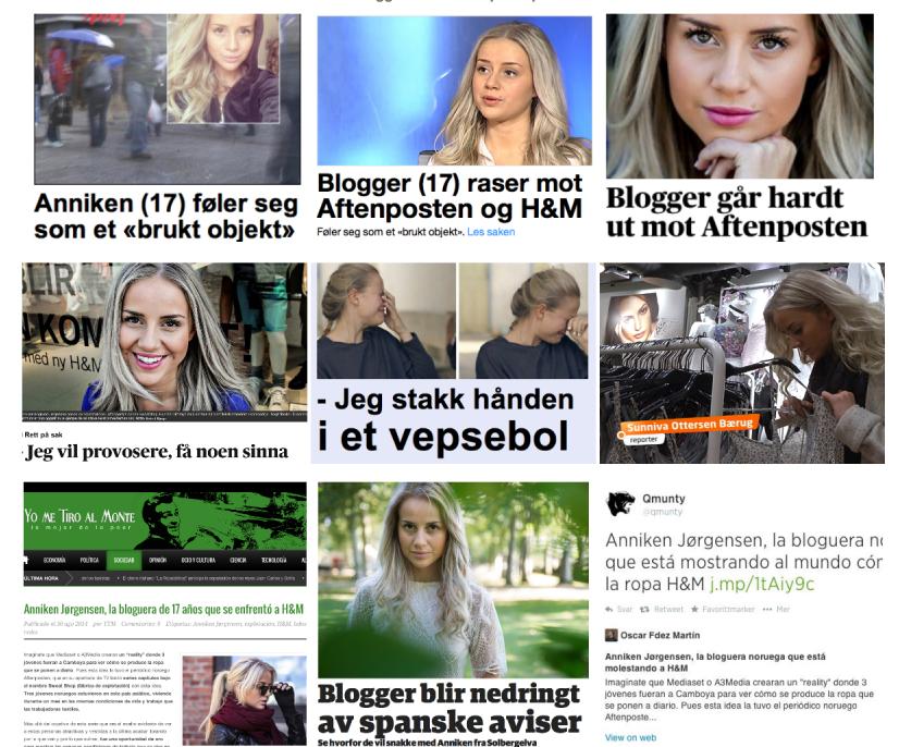 Anniken Jorgense, fashion blogger norvegese 17enne che ha sfidato H&M