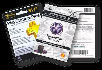 Tarjetas reales PSN USA y PSN Plus