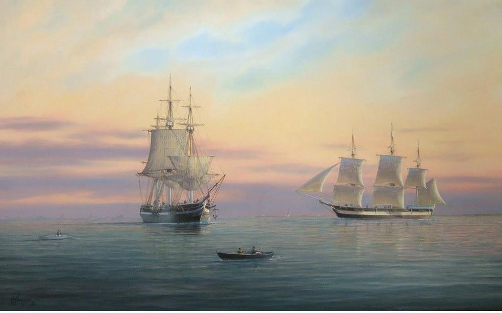 paisajes-con-barcos-al-oleo