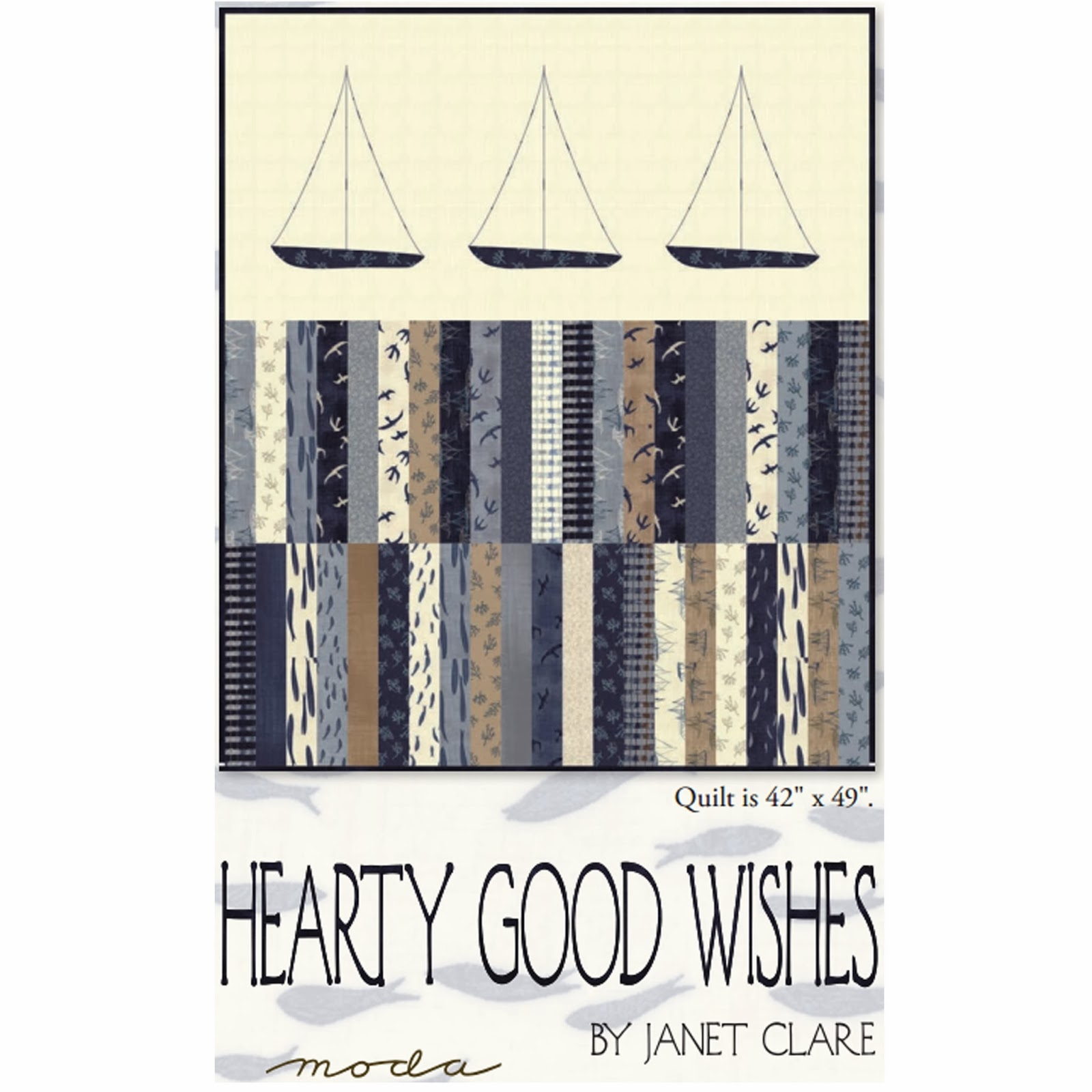 Moda HEARTY GOOD WISHES Free Quilt Pattern