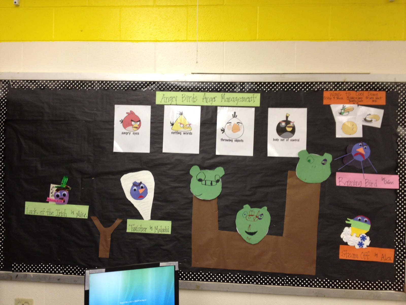 ... of Angry Birds we made a bulletin board to hang up all of hard work.