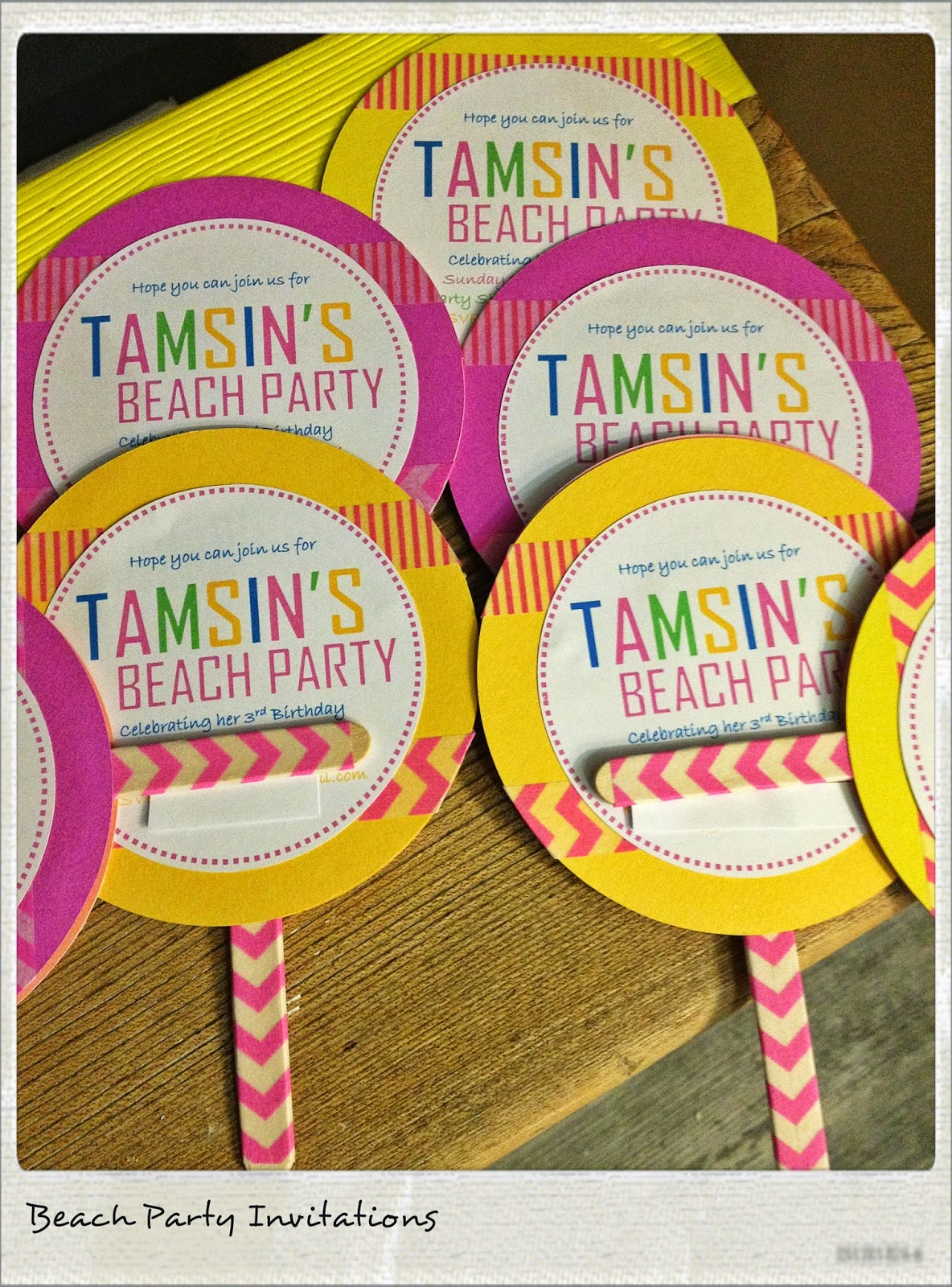 Lovely Stuff For Living: Lollipop Party Invitations