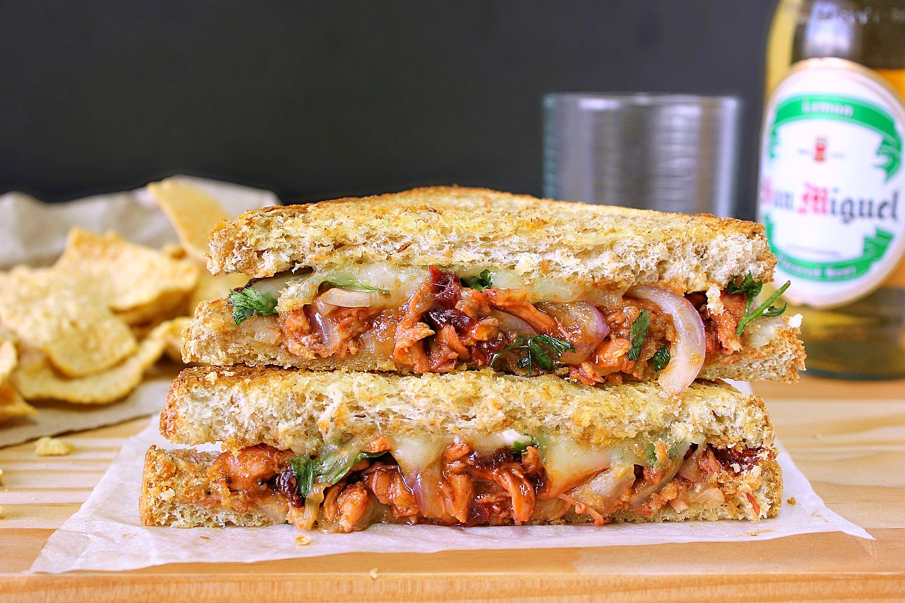 BBQ Chicken Grilled Cheese Sandwiches Recipes — Dishmaps