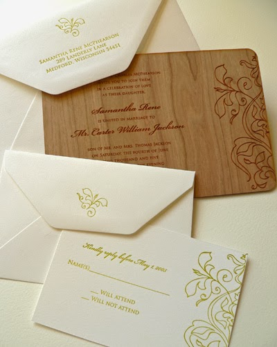 Homemade Wedding Invitation