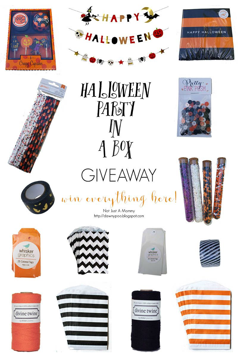 Win everything here in our Halloween Party In A Box giveaway; value nearly $100. Giveaway ends Sunday, October 11