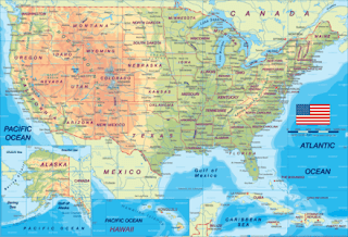 Map of US States with Cities
