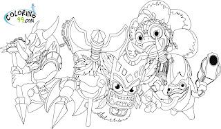 skylanders magic elemental coloring pages