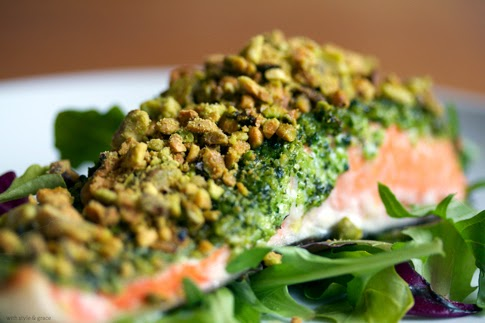 So there 15 naturally green festive recipes for st for Pistachio crusted fish