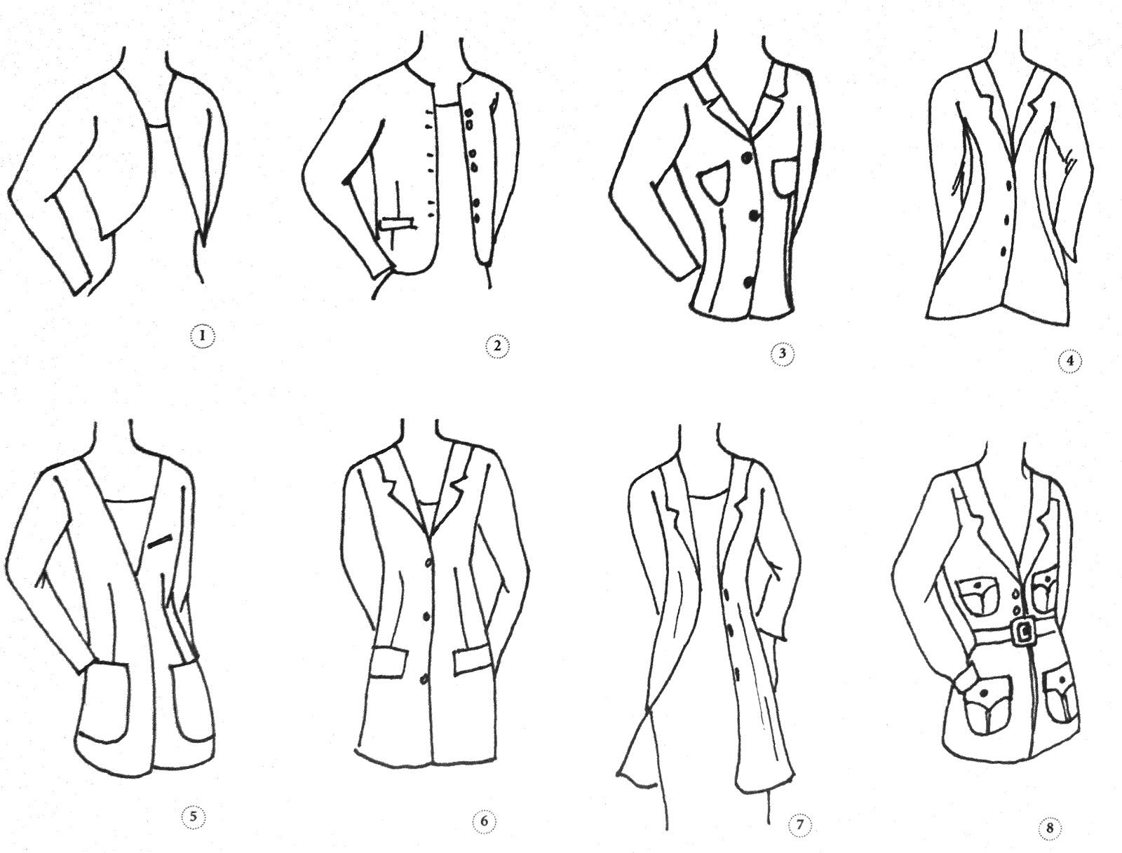 prendas de vestir, como combinar ropa, chaquetas, sacos