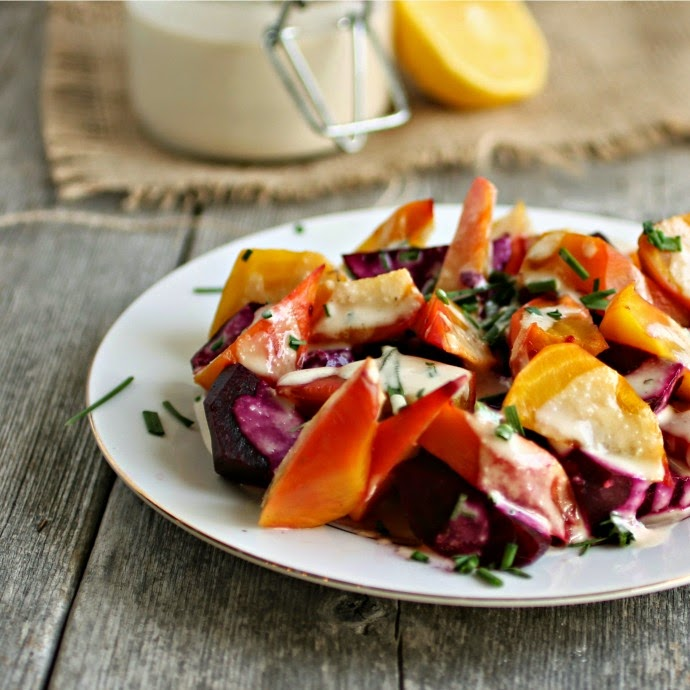 Roasted Beets with Tahini Sauce